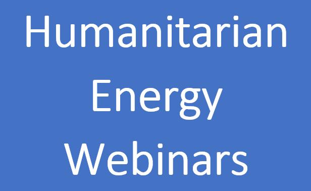 Humanitarian Energy Webinars 2020
